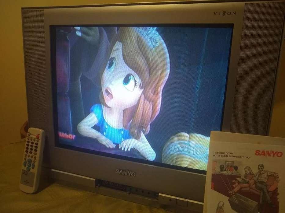 Televisor Color Funcionando Sanyo 21