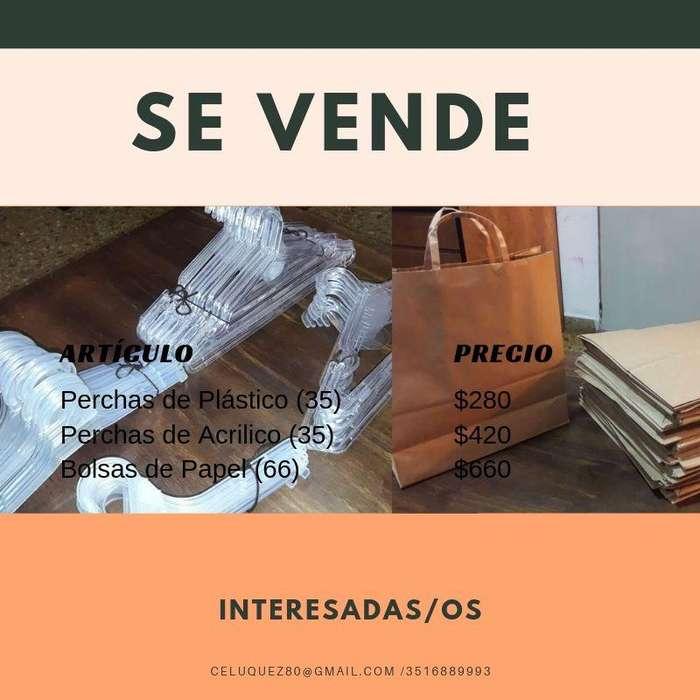VENDO URGENTE!PERCHAS Y BOLSAS