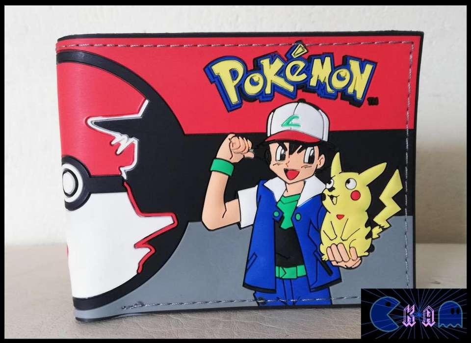 Billetera Pokemon Ash y pikachu