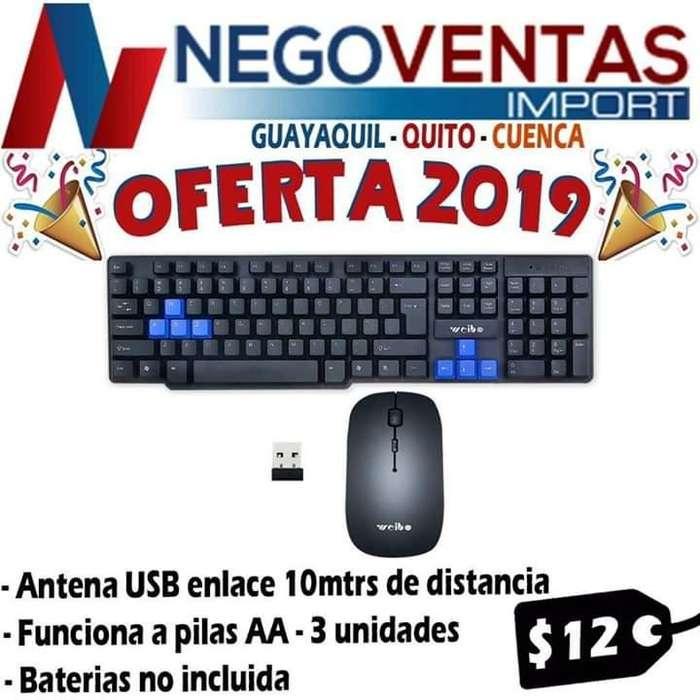 TECLADO MÁS MOUSE INALÁMBRICO PRECIO OFERTA 12,00