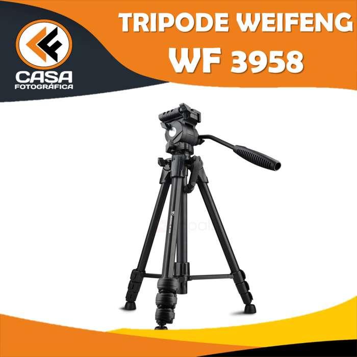 TRIPODE para fotografia y video WEIFENG WF 3958 con ESTUCHE