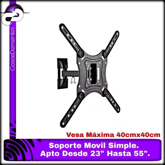 SOPORTE TV LCD 23-55 BRATECK 30KG 1BRAZO 400X400