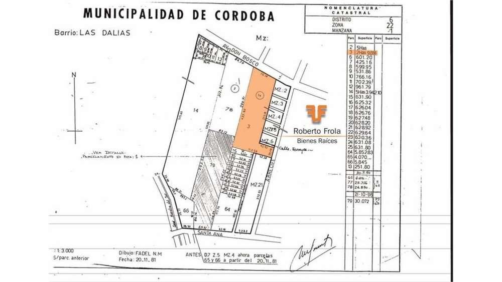 Av. Don Bosco 8440 - UD 30 - Terreno en Venta