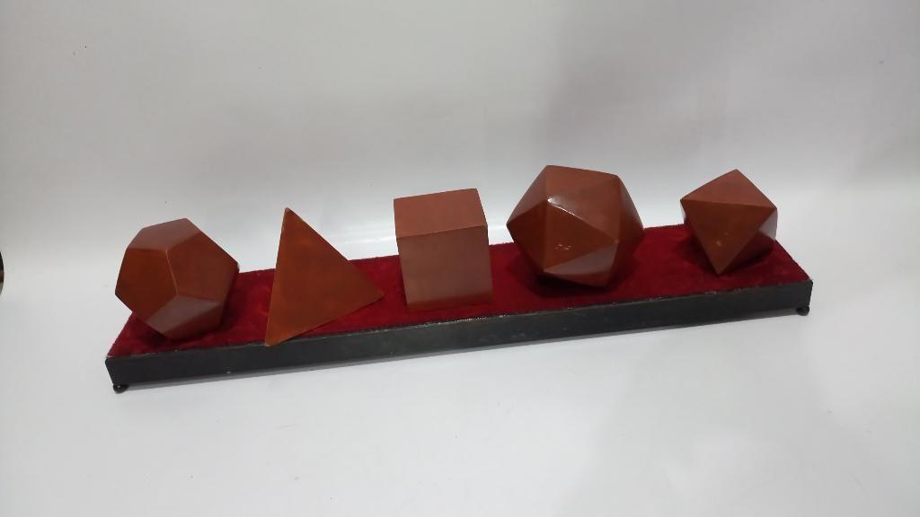 Juego Figuras Pitagoras Madera Hierro