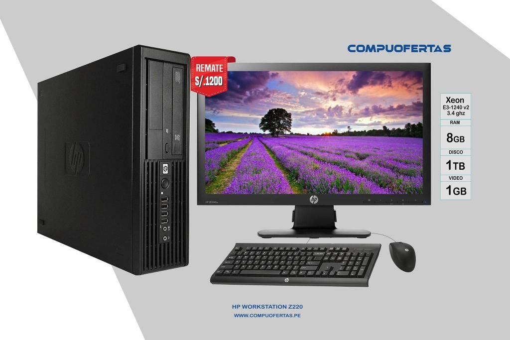 HP WorkStation Z220 Xeon 3.4Ghz Con Led 20