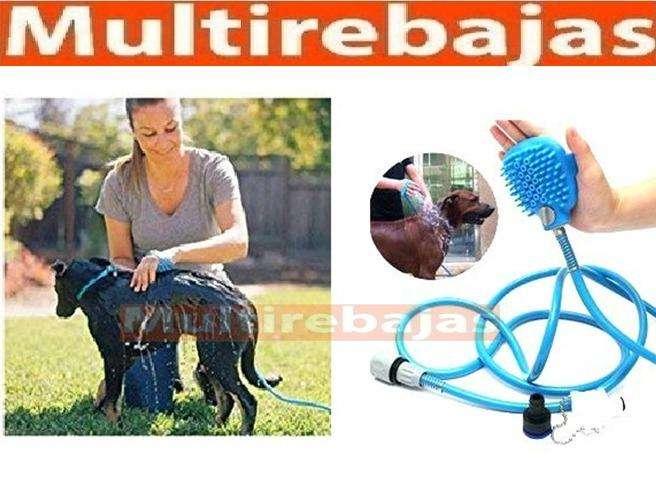 Manguera Baño Mascotas Perros Gatos Cepillo Adaptable Mano