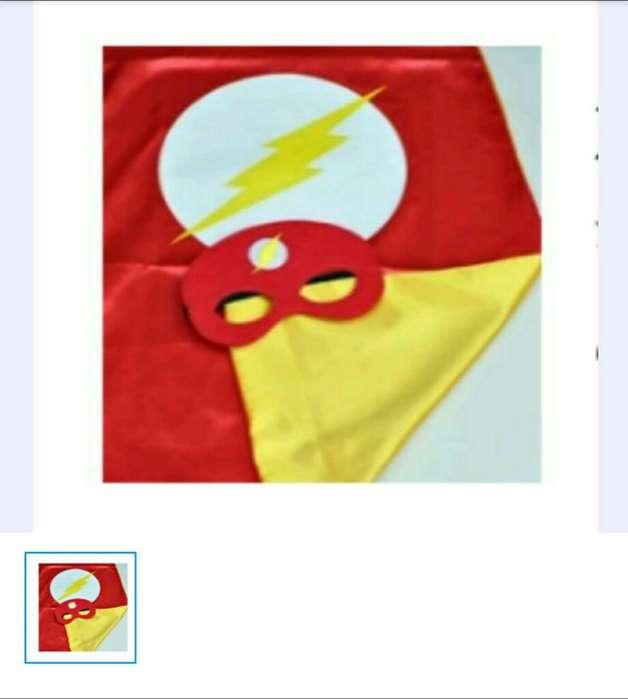Capa Y Antifaz de Flash para Halloween.