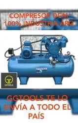 COMPRESOR INDUSTRIAL D.C.M 2HP 140 LTS