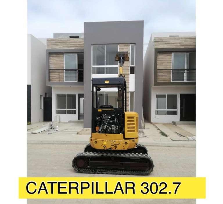 Mini Excavadoras Hidraulica Caterpillar CAT con gomas