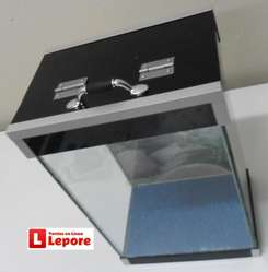 Acuario Pecera Personalizada 24 litros con Lampara LEDs Tapa/base ACRILICO DELIVERY