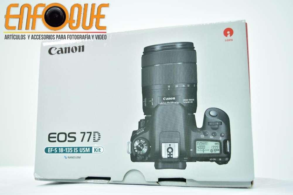 Camara Canon Eos 77d Nueva