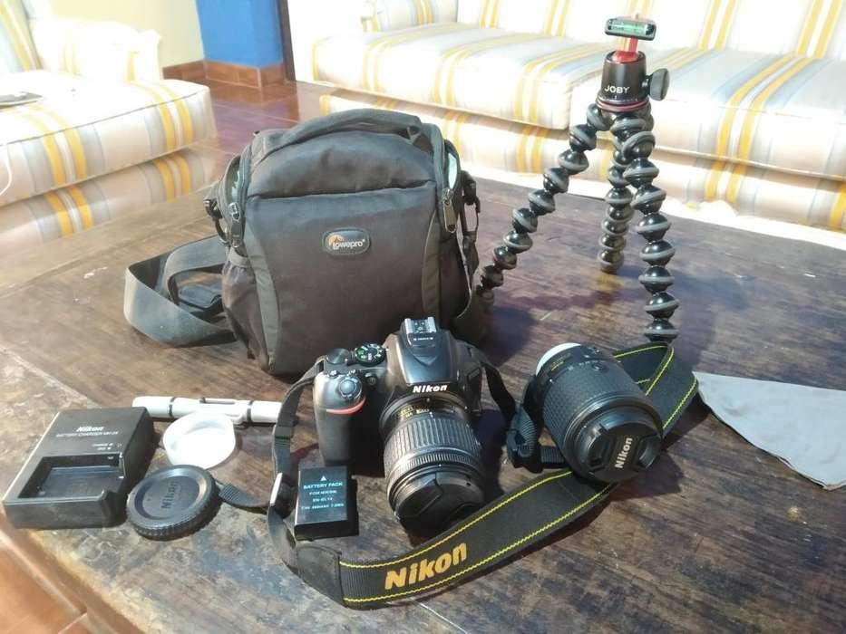 Cámara Nikon D5600 Con Dos Objetivos, Trípode y Mas