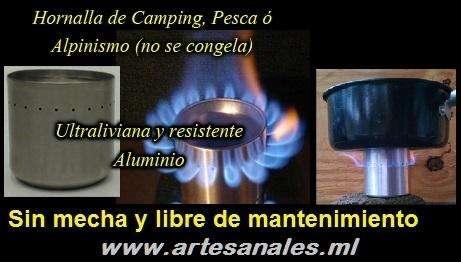 Calentador De Alcohol Artesanal Mate Camping Supervivencia