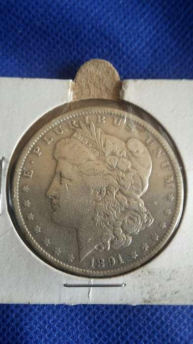 Moneda de Plata Americana Eeuu 1891