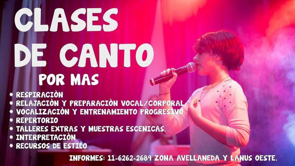 Clases de canto en zona sur Lanus y Avellaneda
