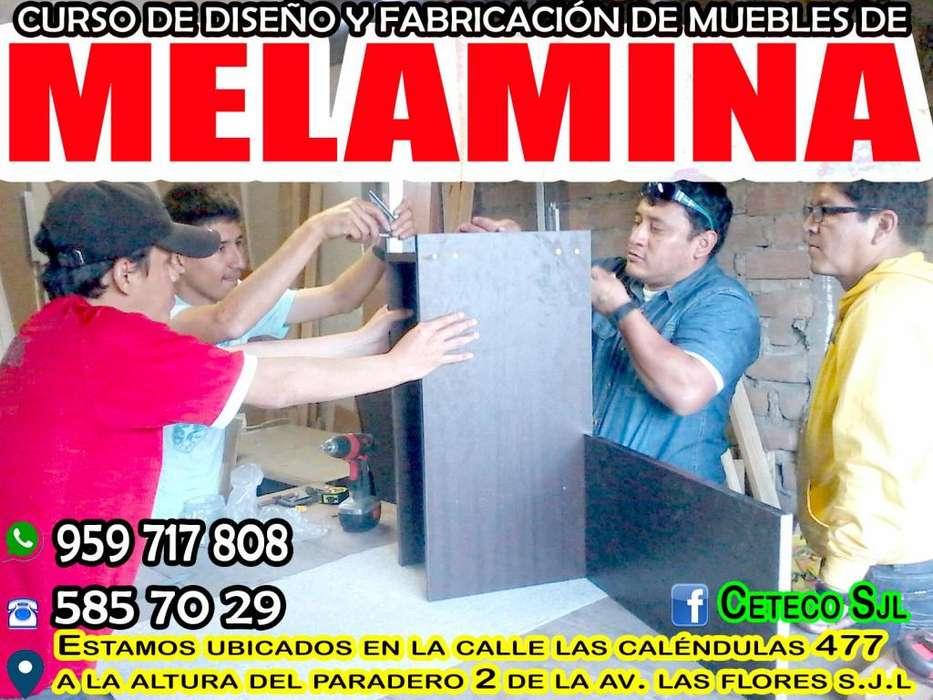 CURSO DE MELAMINA-INICIAMOS SÁBADO 21 DE SETIEMBRE TURNO MAÑANA -TARDE Y NOCHE