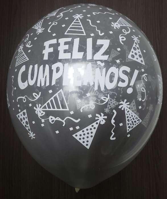 Bomba Trasparente Feliz Cumpleaños R12