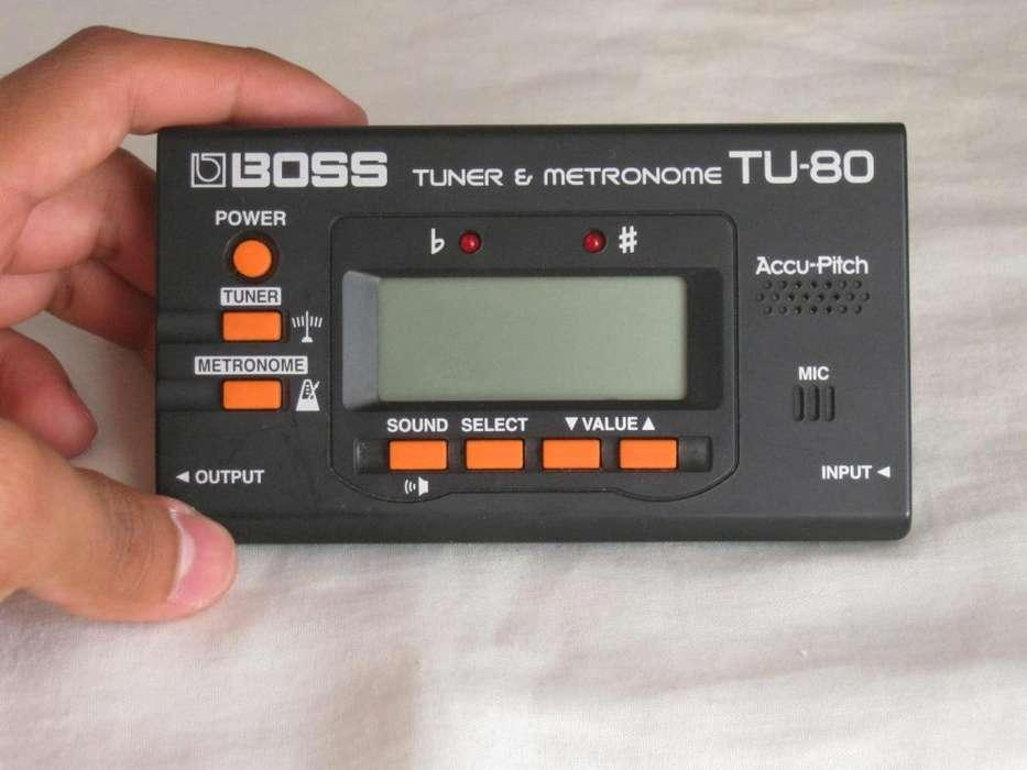 Afinador Boss Tuner Metronomo Tu80