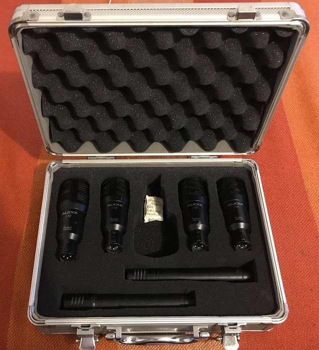 Set de microfonos para bateria marca Audix Fusion