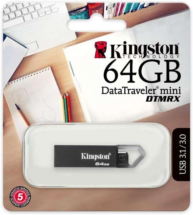 Memoria USB 64GB KINGSTON DTMRX DataTraveler mini USB 3.1