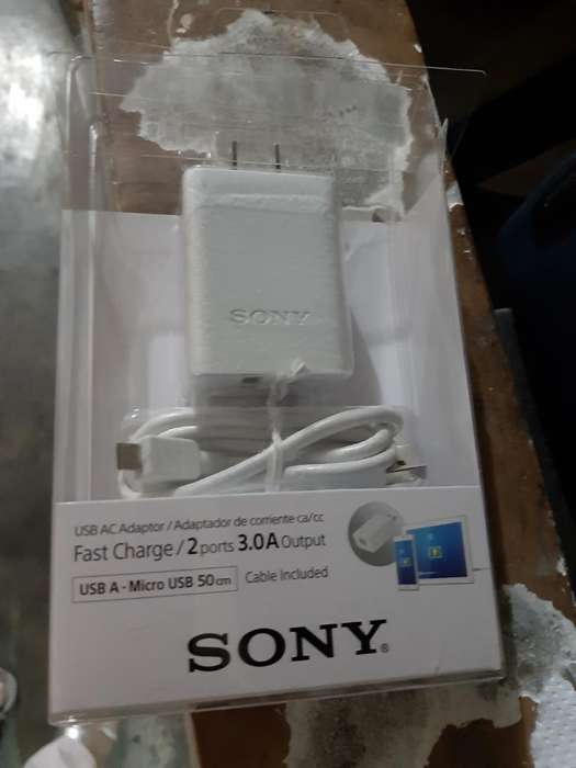 Cargador Sony Original 2 Entradas Usb