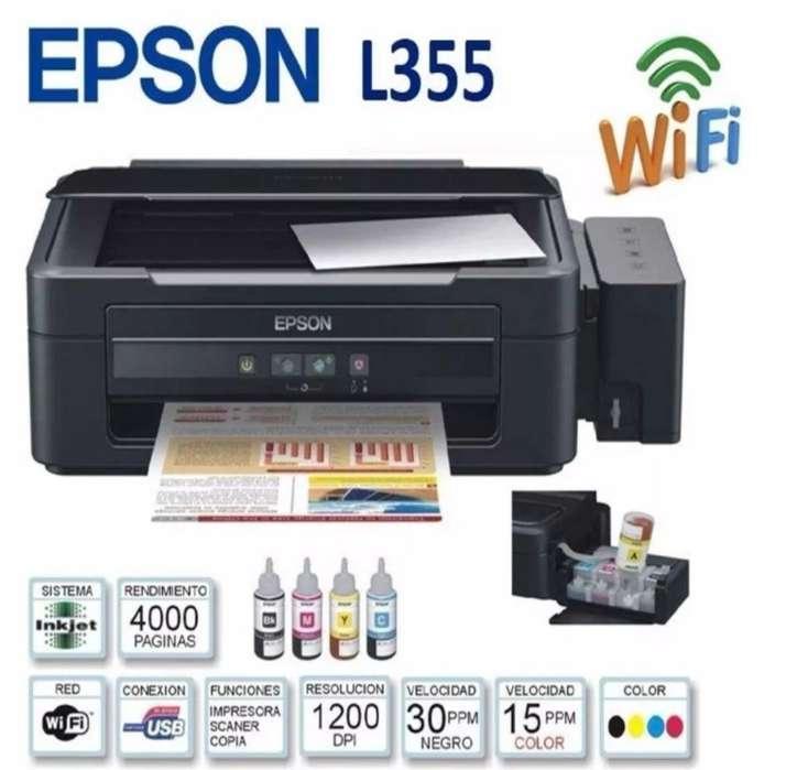Epson L355 Fotocopia Escanea Imprime