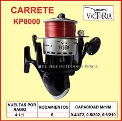 COMBO Caña Pesca 3.60m Victoria Carrete 8000 Nylon puesto 50 Anzuelos Plomos PESCAR