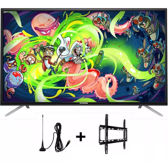 Hyundai Televisor Led 55 Smart Tv Android 6.0 Wifi Usb Hdmi