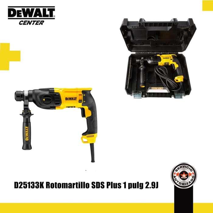 D25133K ROTOMARTILLO SDS PLUS 1 PULG 2.9J 3 MODOS DEWALT