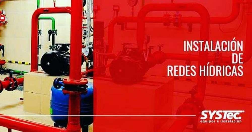 Sistemas de Red Hídrica, bancos de prueba, sistemas de supresión.