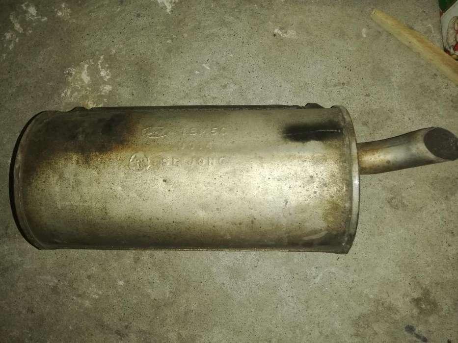 Silenciador Original para Hyundai Getz.