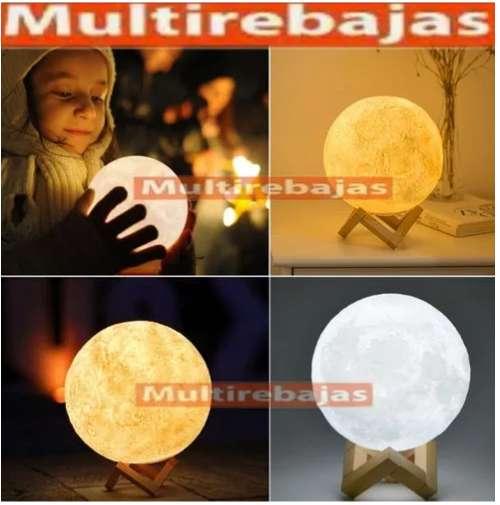 Lampara 3D Diseño De Luna