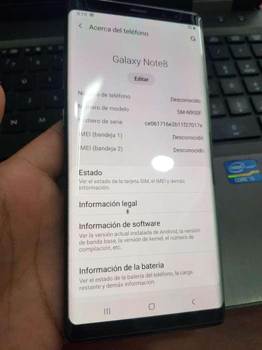 Vendo Samsung Note 8 Detalles
