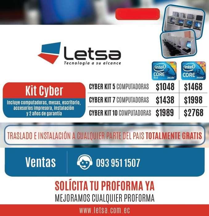 CYBER KIT de 7 COMPUTADORAS CORE 2 DUO CON INSTALACIÓN GRATIS 0939511507 !!!