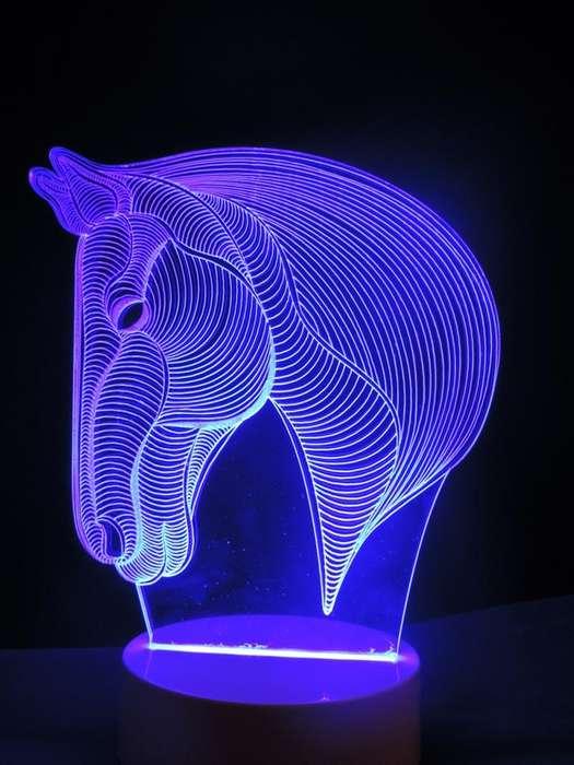 LAMPARAS LED 3D. FUNCIONA CORRIENTE ELÉCTRICA. CAMBIO DE COLORES LUZ NOCTURNA.