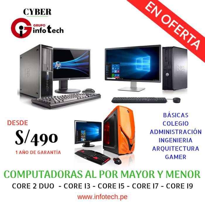 Ofertas de Computadoras Nuevas Gamers en Core i3, i5, i7 y Computadoras HP, Dell, Lenovo ¡Comunícate ya!
