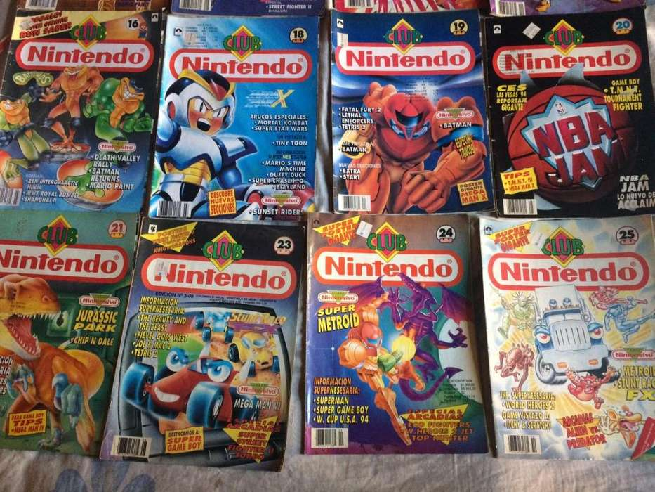 espectaculares revistas club nintendo año 1