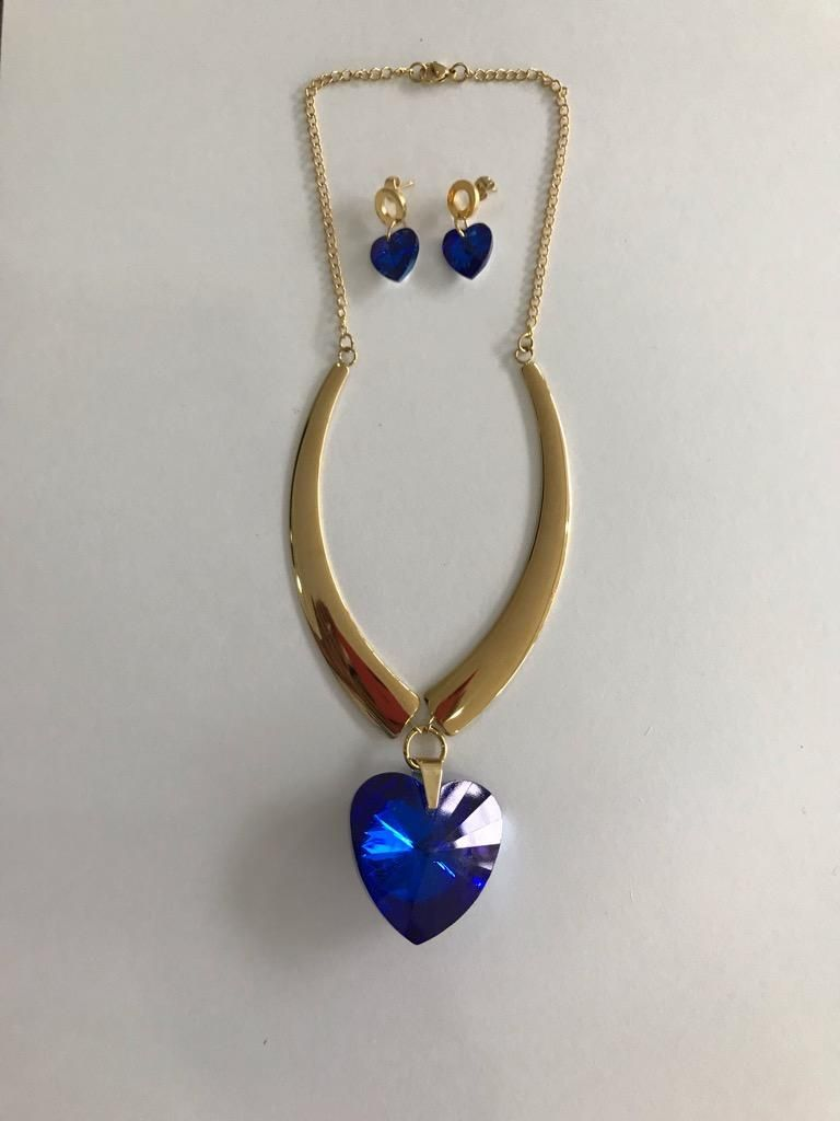 Collar Corazon Azul