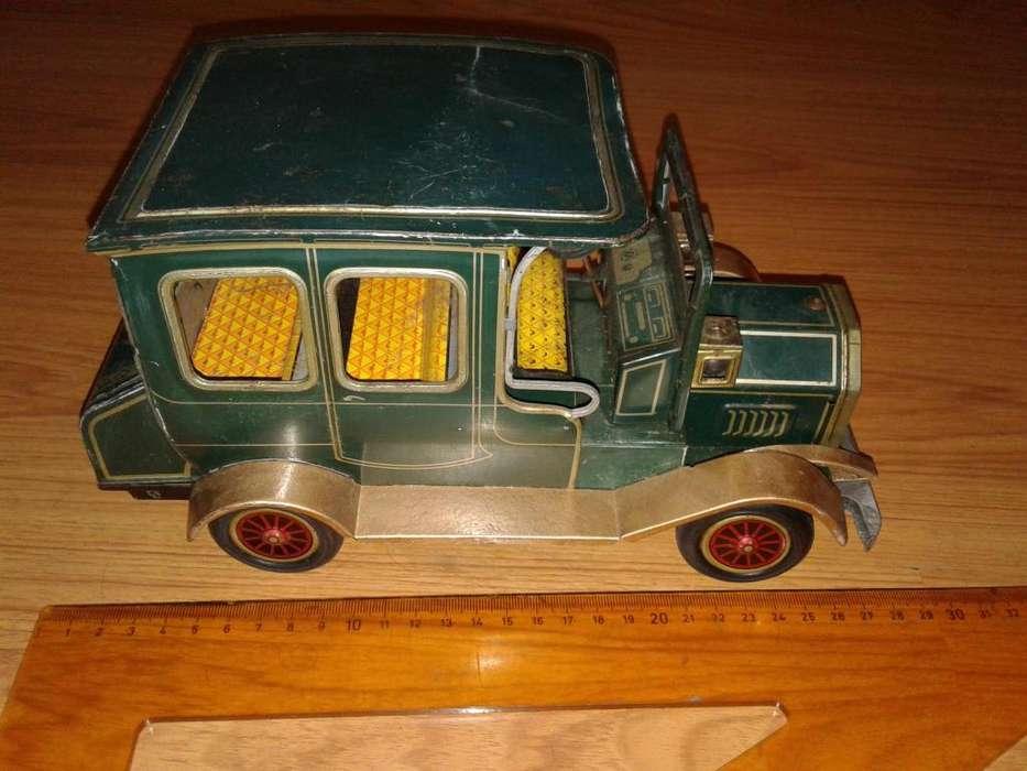 Antiguo Carro De HojaLata Grand pa car Verde SH Japones
