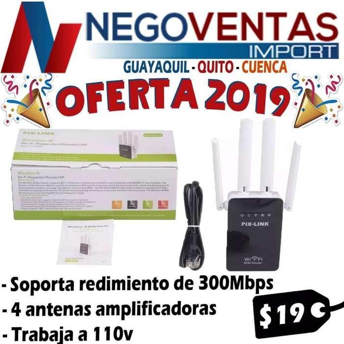 REPETIDOR <strong>wifi</strong> 4 ANTENAS NUEVO MAYOR ALCANCE HASTA 100 ,TS