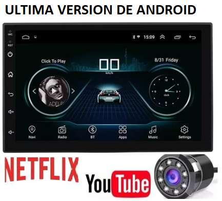 RADIO PARA CARRO ANDROID PANTALLA WIFI GPS BLUETOOTH ULTIMA VERSION DE ANDROID 8.1