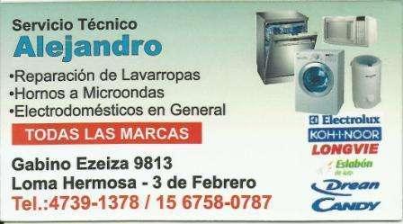 Servicio Tecnico de Lavarropas Hornos Microondas Elet. Gral.