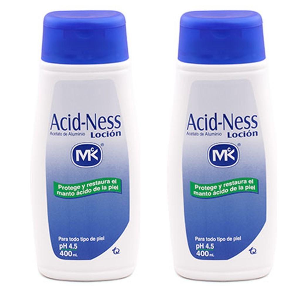 LOCION ACID NESS MK – Acetato de Aluminio x 400 ml x 2