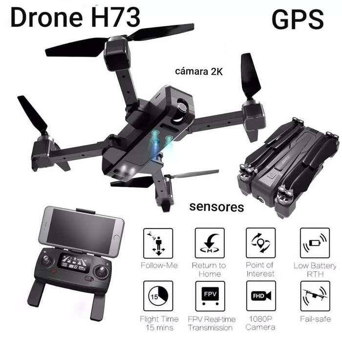 Drone H73 <strong>gps</strong> Camara Angular 2k Estuche Sensores Estable barómetro giroscopio optico