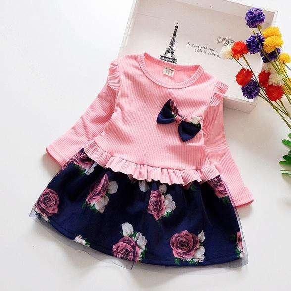 Vestido para niña floreado