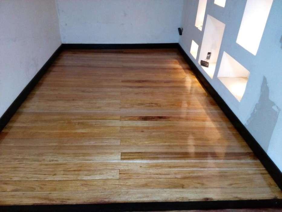 pisos en madera y cristalizada