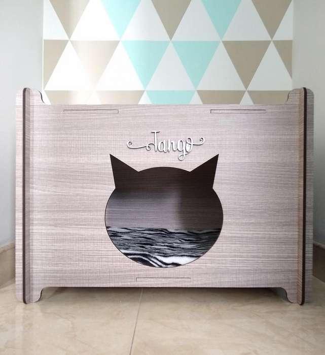 Hermosa casa para gato desarmable