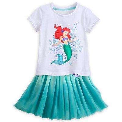 La Sirenita Ariel Conjunto Remera y Pollera Original Disney