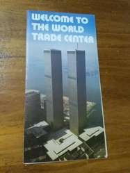 Antigua Folleto Torres Gemelas New York 1980 World Trade Center