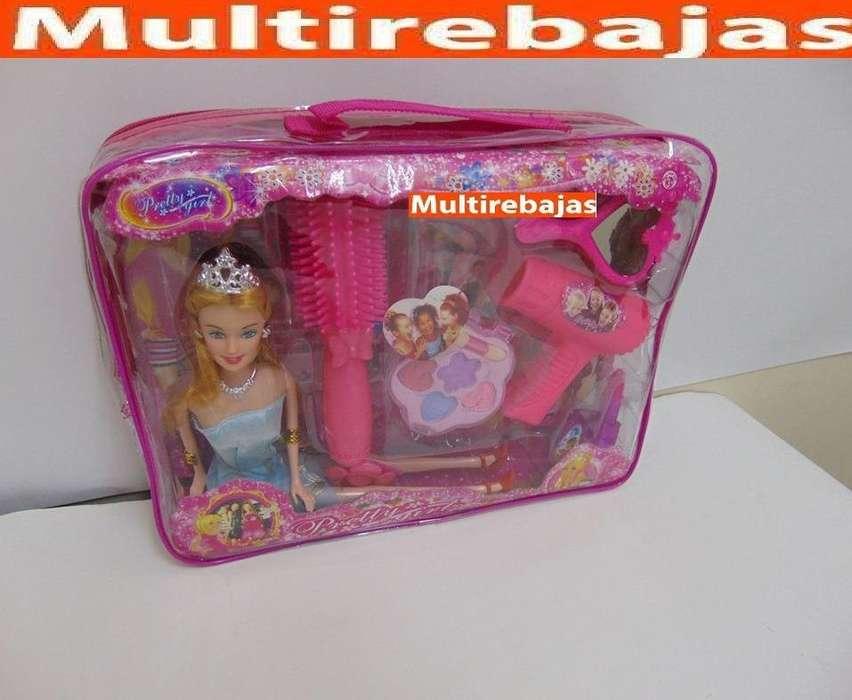 Set De Masquillaje Y Accesorios De Juguete Barbie